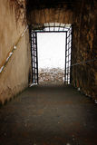 Dark corridor with a light at the end of Royalty Free Stock Photo