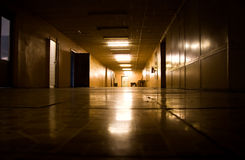 Dark corridor in scientific laboratory Royalty Free Stock Photography