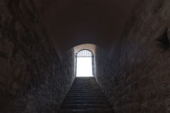 Dark Corridor. With stair and light Stock Photography
