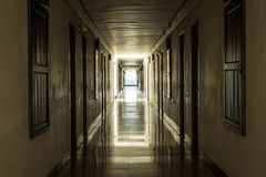 Dark corridor Royalty Free Stock Photos