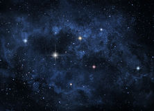 Dark cosmic nebula Royalty Free Stock Photos