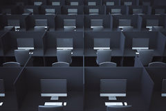 Dark coworking office Stock Image