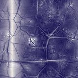 Dark cracked glass Stock Photography