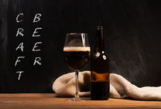 Dark craft beer id the glass Royalty Free Stock Photo