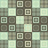 Dark Cream brown and blue green square cube pattern background. Dark Cream brown and blue green squares inside squares cube pattern background wallpaper Royalty Free Stock Photography