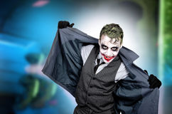 Dark creepy joker face. Screaming angry Royalty Free Stock Photo