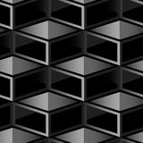Dark cube geometric seamless pattern Stock Photos