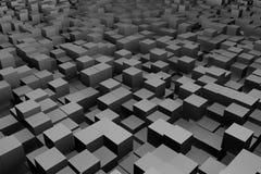Dark cubes Stock Photo