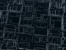 Dark cubes with different sizes royalty free stock images