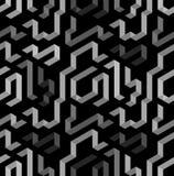 Dark 3D shapes pattern. Dark grey geometric shape pattern Royalty Free Stock Photos