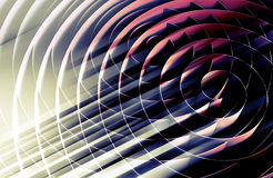 Dark 3d spirals, abstract digital illustration, background Stock Photos