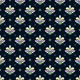 Dark damask pattern Stock Photo