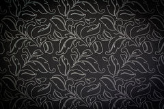 Dark damask seamless floral pattern background Stock Photos