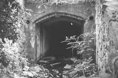 Dark damned and abandoned mine Royalty Free Stock Images