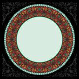 Dark decoratif islamic circle frame Royalty Free Stock Images