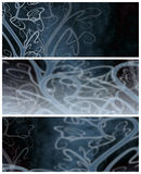 Dark decorative banners or backgrounds Royalty Free Stock Photo