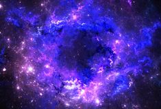 Dark deep space starfield. Illustration of a space and starfield on a dark background royalty free illustration