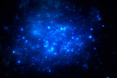 Dark deep space starfield Royalty Free Stock Photo