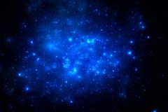 Dark deep space starfield Royalty Free Stock Photo