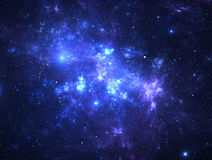 Dark deep space starfield Royalty Free Stock Image