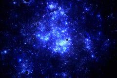Dark deep space starfield Stock Photo