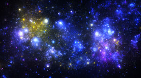 Dark deep space starfield Stock Images