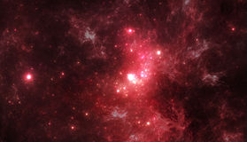 Dark deep space starfield Stock Photo