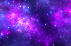 Dark deep space starfield Royalty Free Stock Photography