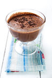 Dark and delicate chocolate mousse Stock Images