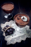 Dark and delicate chocolate mousse Royalty Free Stock Images