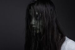 Dark demon girl. Close up portrait of a dark demon girl Royalty Free Stock Photos