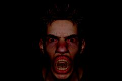 Dark Demon Portrait Stock Photos
