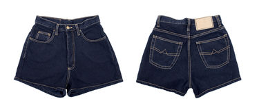 Dark denim shorts Stock Photo