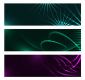 Dark design banners template for you designs Royalty Free Stock Images