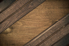 Dark diagonal wooden planks wood board with copy Stock Photos