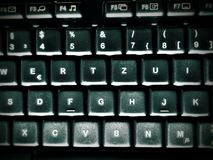 A dark and dirty computer keyboard Royalty Free Stock Image