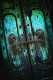 Dark dirty metal vintage door background Royalty Free Stock Photography