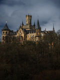 Dark dramatic landscape with Marienburg castle. Hannover, Germany stock photos