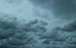 Free Dark Dramatic Sky And Clouds. Background For Death And Sad Concept. Gray Sky And Fluffy White Clouds. Thunder And Storm Sky. Sad Royalty Free Stock Photography - 163945967