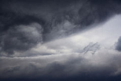 Dark Dramatic sky clouds before storm. landscape heavenly background Royalty Free Stock Photo