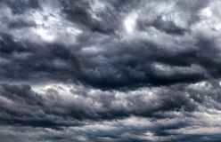 Dramatic Clouds Background Royalty Free Stock Photography