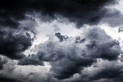 Storm Clouds Background Stock Image