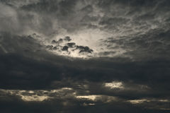 Dark clouds on sunset Royalty Free Stock Photos