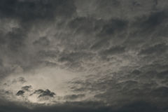 Dark clouds with light Royalty Free Stock Photo