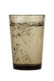 Dark drinking glass with water Stock Image