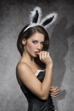 Dark easter rabbit Stock Photo