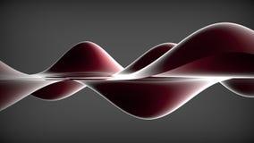Dark elegant abstract background. Wavy background. 3D illustrati. On Stock Photo