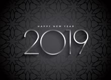 Dark 2019 elegant background design vector illustration