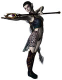 A dark elf casting a spell Royalty Free Stock Photo