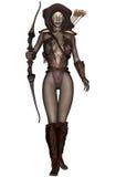 Dark elf. 3D rendered dark elf warrior on white background isolated Royalty Free Stock Photography